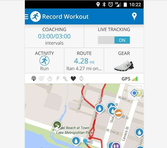 Track pace, distance, calories and time with audio