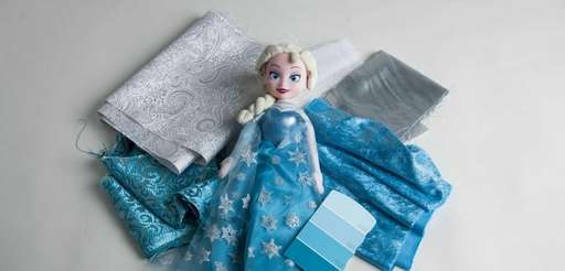 """An Elsa doll inspired by the movie """"Frozen"""""""