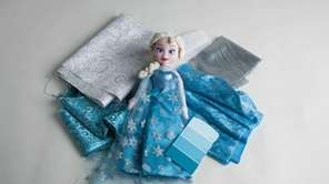 "An Elsa doll inspired by the movie ""Frozen"""