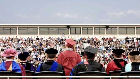 A graduation ceremony.