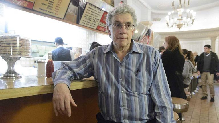 Conrad Strohl inside the Edison Cafe in Manhattan's