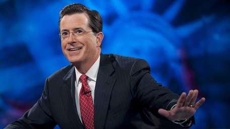 Host Stephen Colbert signed off for the last
