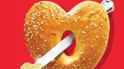 Heart bagel.
