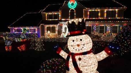 Holiday lights shine bright at the Marciante home