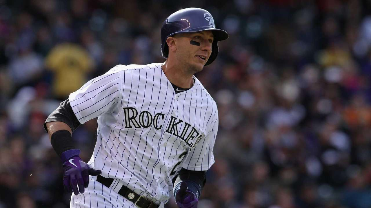 Shortstop Troy Tulowitzki of the Colorado Rockies gets