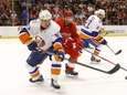 New York Islanders center Casey Cizikas clears the