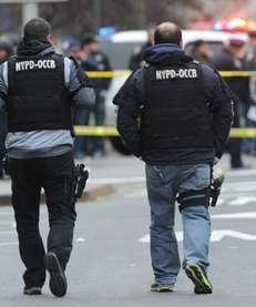 The scene where NYPD officers Wenjian Liu and