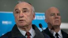 NYPD Commissioner William Bratton speaks during a news