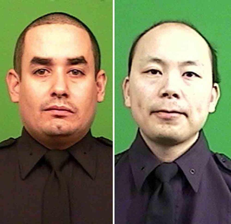 Officers Rafael Ramos, 40, and Wenjian Liu, 32,