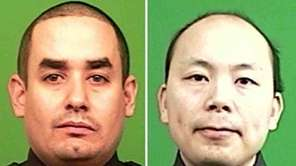 Officers Rafael Ramos, 40, and Wenjian Liu, 32,
