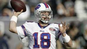 Buffalo Bills quarterback Kyle Orton (18) passes against