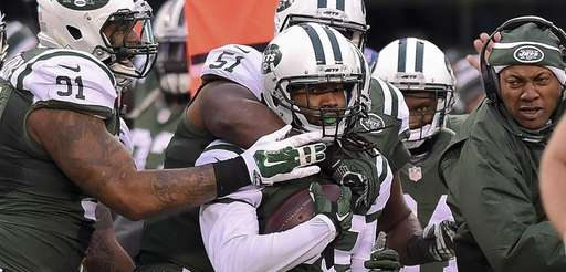 New York Jets cornerback Marcus Williams (22) celebrates