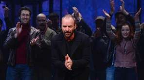 Musician/playwright Sting attends the curtain call at a