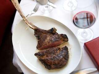 The rib-eye at Tellers makes a dramatic impression,