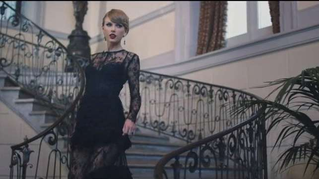Taylor Swift in her music video for