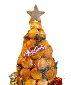 The croquembouche is a conical tower of cream