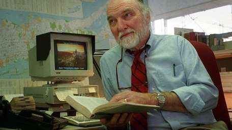 Former Newsday reporter George DeWan is shown in