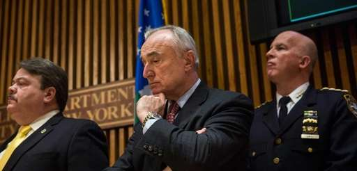 NYPD Commissioner Bill Bratton at a news conference