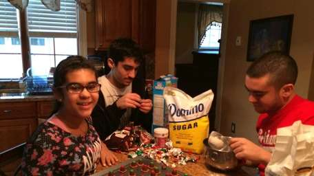 The Castillo family of Seaford makes cookies from