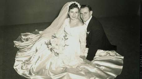 Enid and Irving Serota on their wedding day,