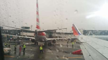 Two jets at LaGuardia Airport got a little
