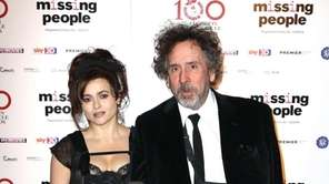 Helena Bonham Carter and Tim Burton seen at
