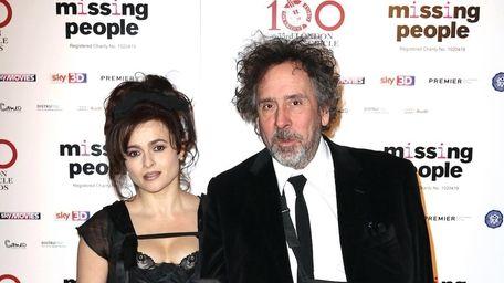 Helena Bonham Carter and Tim Burton seen at