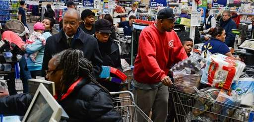 Shoppers are seen here shopping at the Walmart