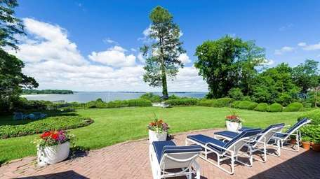 This Sands Point waterfront property, on the market