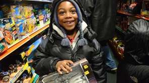 Davonte Johnson, 7, is among the 110 kids