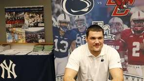 Penn State defensive tackle Anthony Zettel speaks during