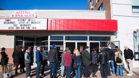 Lines formed outside the Merrick Cinemas in Merrick,