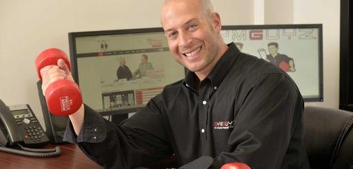 GYMGUYZ chief executive Josh York in his Plainview