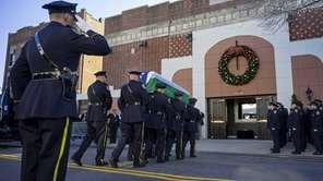 The casket of slain NYPD Officer Rafael Ramos