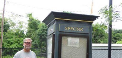 Tony Smolenski visits Speonk station in summer 2014.