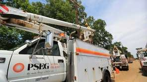 PSEG Long Island crews are shown in July