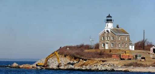 The Plum Island lighthouse is shown on Tuesday,
