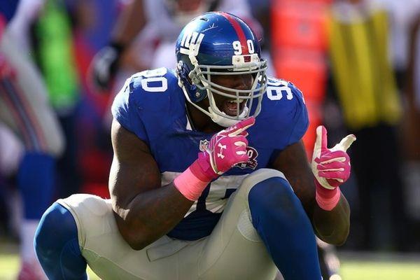 New York Giants' defensive end Jason Pierre Paul