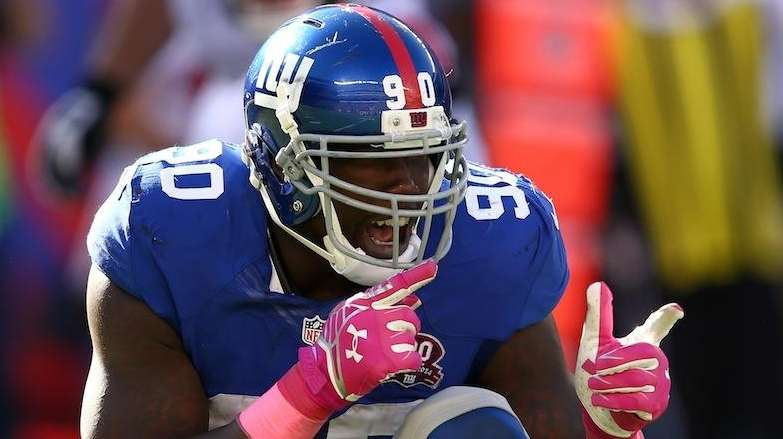 New York Giants' defensive end Jason Pierre Paul