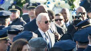 Vice President Joe Biden arrives for the funeral