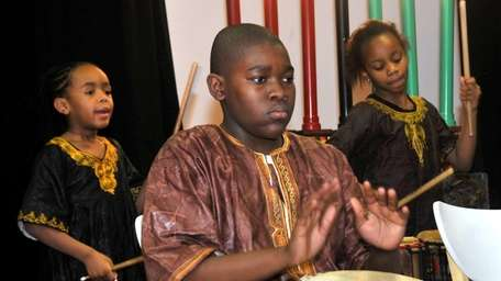 Jeffrey Young, 13, a drummer with Layla Dance