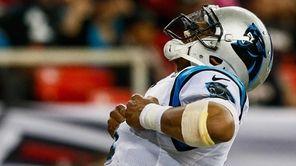 Cam Newton #1 of the Carolina Panthers celebrates
