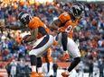Denver Broncos running back C.J. Anderson celebrates his