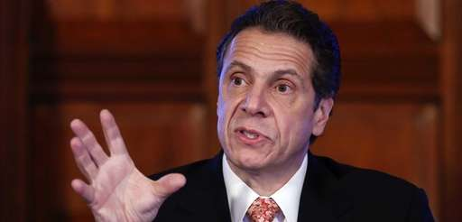 New York Gov. Andrew Cuomo talks during a