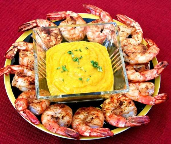 Shrimp with mango-ginger ketchup
