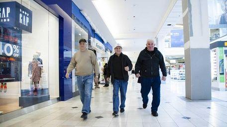 From left, Richie Flori, 73, of Westbury, Frank