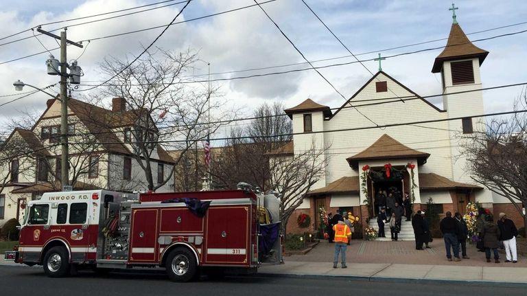 The wake for Inwood volunteer firefighter Joseph Sanford