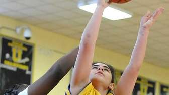 Oyster Bay's Gianna Gotti drives to the hoop