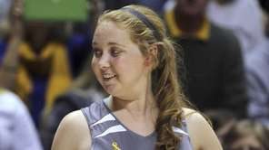 Mount St. Joseph's Lauren Hill gives a thumbs-up