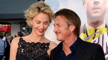 Charlize Theron and Sean Penn arrive at the